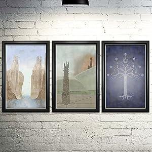 Lord of the Rings Word Art Print Three Set 11x17