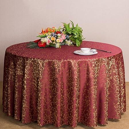 haoun redondo tejido jacquard funda para mesa mantel Floral ...