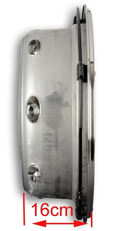 Tapacubos Acero Inoxidable 19,5 pulgadas - Llanta - Revestimiento - para camiones (de acero inoxidable): Amazon.es: Coche y moto