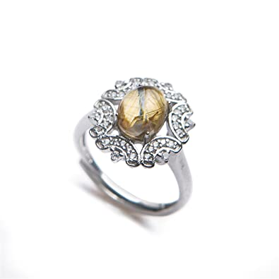 Amazon Com Lizifang Natural Gold Rutilated Quartz Crystal Gemstone