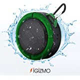 iGizmo Waterproof Shower Speaker. Wireless Handsfree Speaker with Built-in Mic and Micro SD. Portable Bluetooth Speaker for iPhone iPad iPod and Android Phones