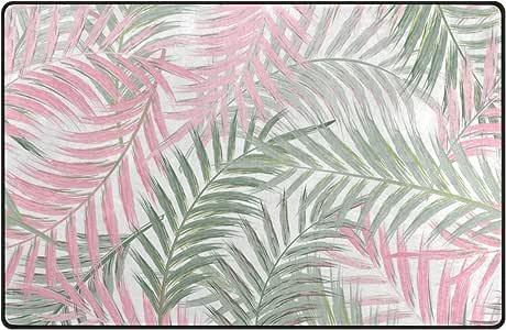 Amazon Com Ingbags Super Soft Modern Leaves Of Palm Tree