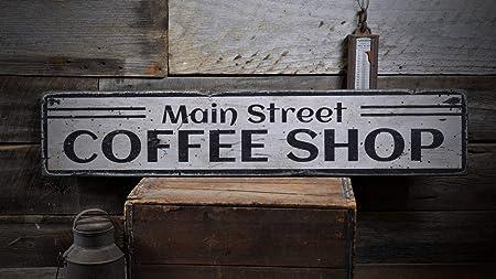 LynnYo22 Main Street Coffee Shop Wp301778 - Cartel de Madera ...