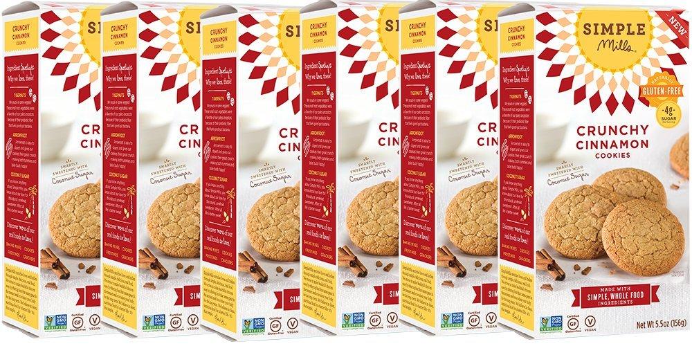 Simple Mills Crunchy Cookies, Cinnamon, 5.5 Ounce, 6 Count by Simple Mills