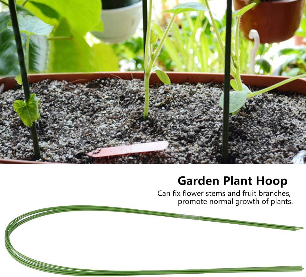 Duokon Support de Serre 12 pi/èces Bricolage Jardin Flexible en Plastique Enduit de Fil de Fer Fleur Plante Support Serre Cerceau