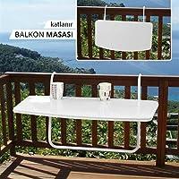 Askılı Balkon Masası, Katlanabilir Masa 40x80 CM