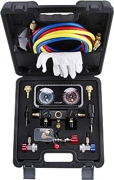 AC R1234YF R134A Gauge Set Automotive Manifold Gauge Compatible with R1234YF R