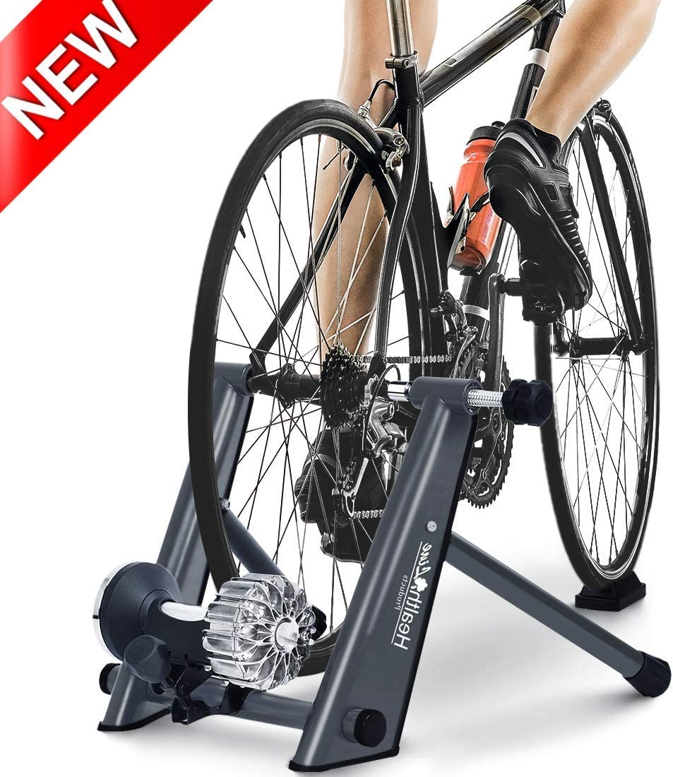 HEALTH LINE PRODUCT Fluid Bike Trainer Stand, Indoor Fluid Bicycle Exercise Trainer