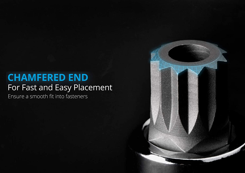 Capri Tools 30036 12mm XZN Triple Square Bit Socket with 1//2-Inch Drive