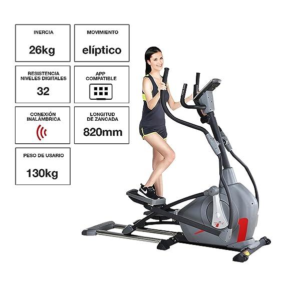 Sportstech CX650 Profi Escaladoras ellipsentrainer stepper con smartphone App, La inercia de 26 kg, 5x HRC-22 programas-32 niveles de resistencia-cyclette ...