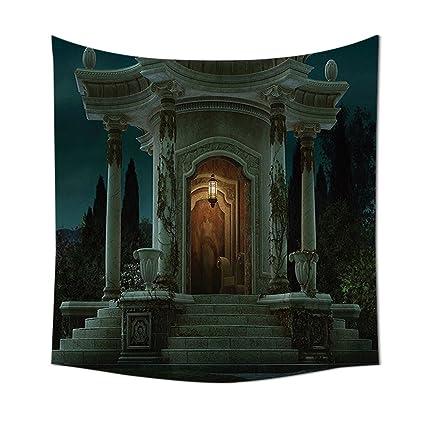 Gótico casa Decor tapiz colgar en la pared romano Pavilion farol Ivy en pilares arquitectura medieval