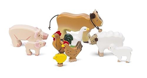 Le Toy Van Wooden Farm Animals Set