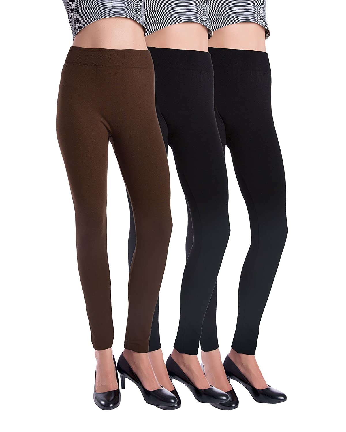 59b0e65e73e26 Homma Premium Quality Leggings | Made of Thick Stretchy Fleece Material  Ultra Soft Feel Material Fleece lined for warmth and comfort