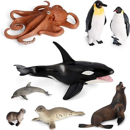 Realistic Plastic Penguin Toys for Kids Animal Simulation Model Pack of 12