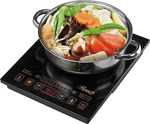 Rosewill 1800 Watt 5 Pre-Programmed Settings Induction Cooker Cooktop