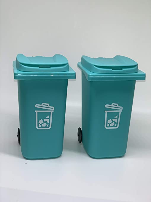 Mini Round Press Lid Trash Can Home Office Desktop Waste Garbage Storage Bin Compact trash can won t take up much//-Grey