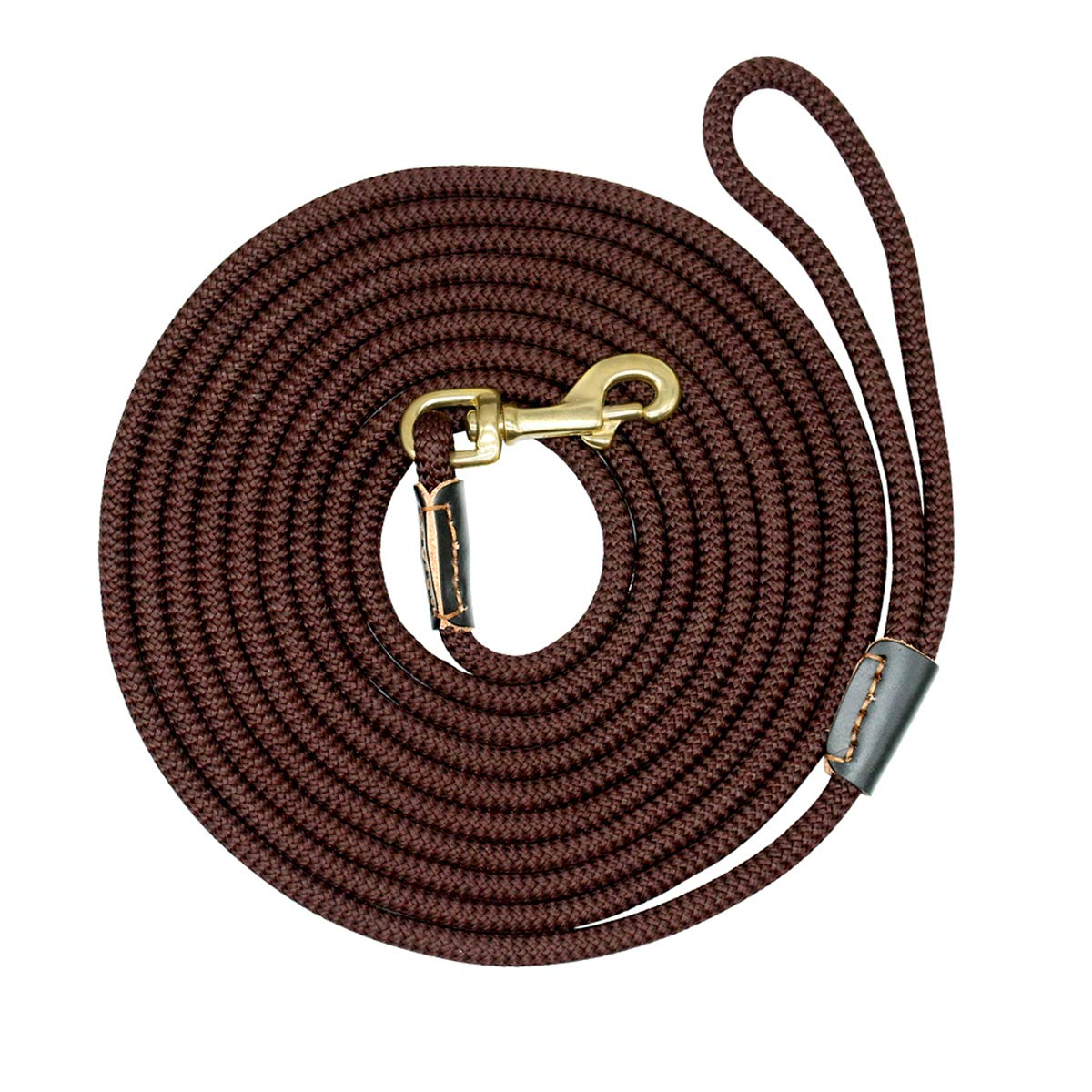 Coffee 10m Coffee 10m PETFDH Durable Dog Tracking Leash Nylon Long Leads Rope Pet Training Walking Leashes 3M 5M 10M 20M for Medium Large Dogs Non-Slip Coffee 10m
