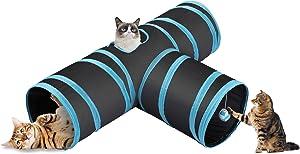 CO-Z Collapsible Cat Tunnel Tube Kitty Tunnel Bored Cat Pet Toys Peek Hole Toy Ball Cat, Puppy, Kitty, Kitten, Rabbit