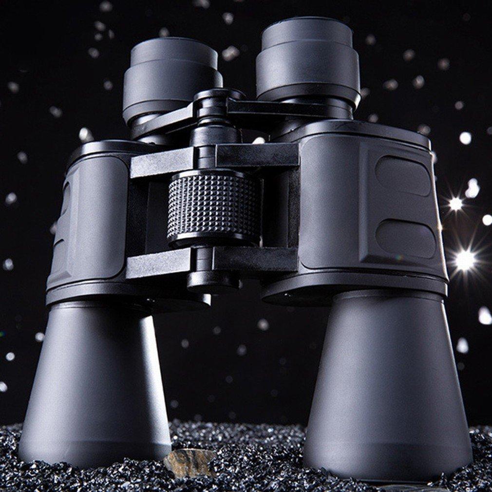 DHG Prismáticos Grandes Oculares 10X50 de Alta Potencia de Alta Definición de Gran Escala Visión Nocturna Binoculares de Visión, Negro, 195 * 62 * 77 mm