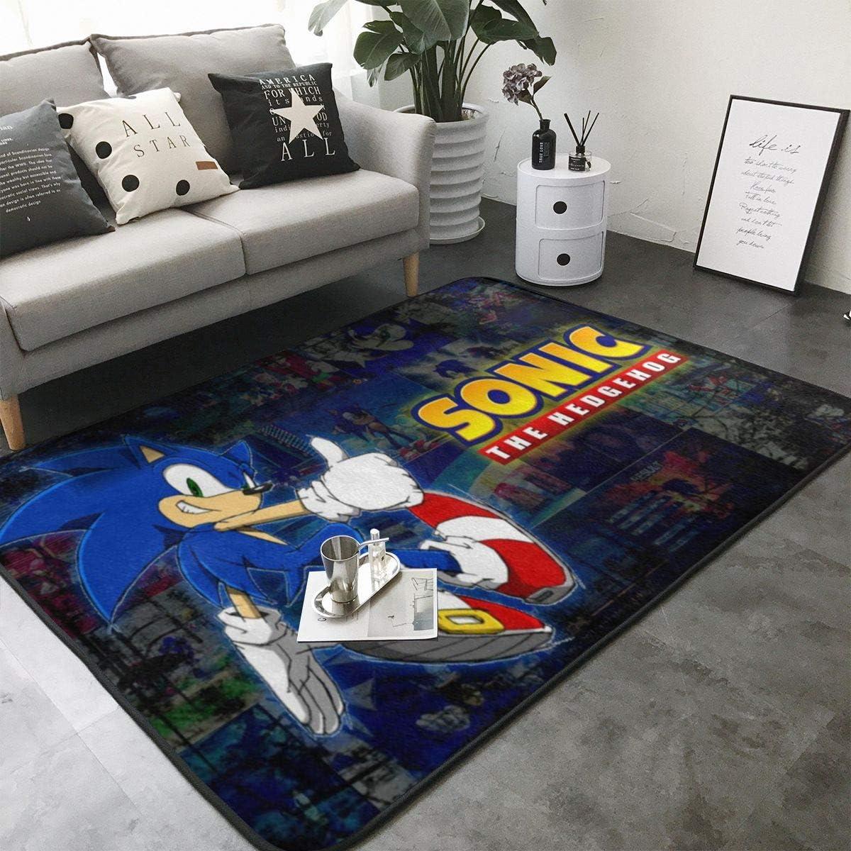 So-nic The Hed-gehog 21 Home Decoration Large Rug Floor Carpet Yoga Mat, Modern Area Rug for Children Kid Playroom Bedroom 36 x 24 inch