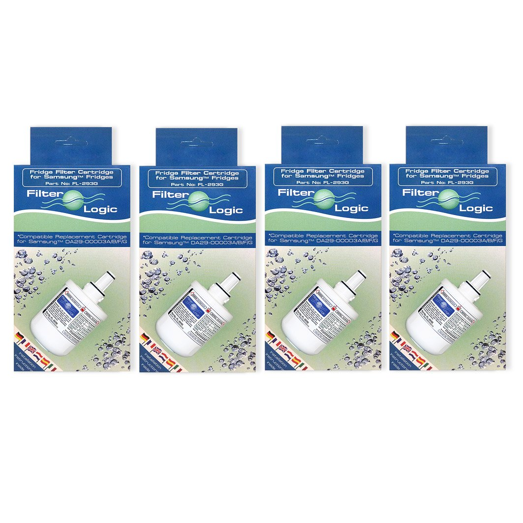 4 x FilterLogic FL-293G To Replace Samsung DA29-00003G & DA29-00003F,DA29-00003B