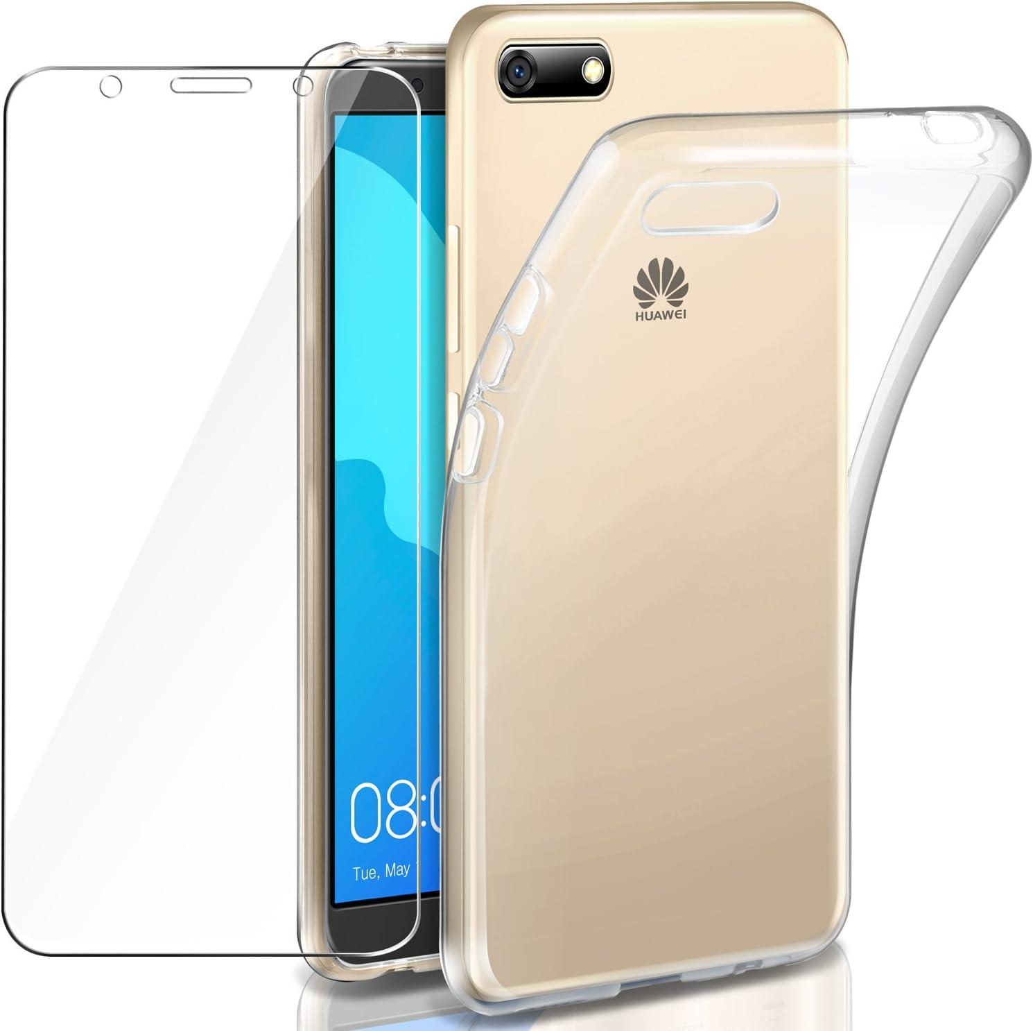 Telefonia AICEK Cover Huawei Y5 2018 5.45 Pollici Nero Custodia ...