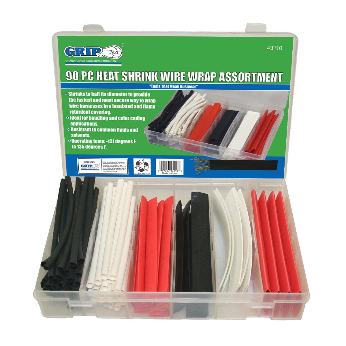 Grip 90 Piece Heat Shrink Wire Wrap Assortment