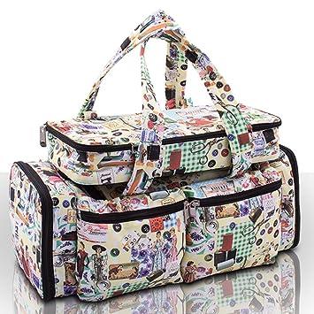 e85f4ca25 Bella - Bolsa para materiales de costura y manualidades, organizador para  agujas, estilo retro: Amazon.es: Belleza