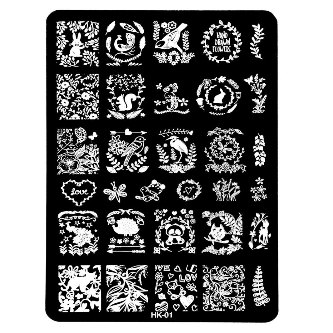 Susenstone DIY Nail Art Image Stamp Stamping Plates Manicure Template (H) Susenstone_1336
