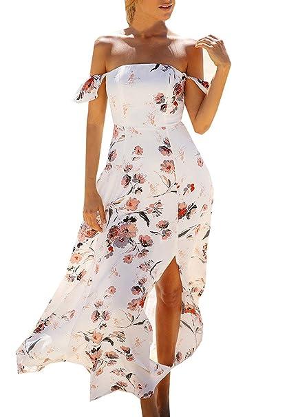super popular 02836 c0568 Vestiti Donna Estivi Eleganti Vestito Lunghi Spiaggia Fiore ...