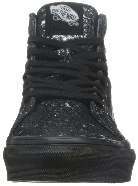 Vans Mens Sk8-Hi Slim Hight Top Lace Up Skateboarding Shoes Negro Negro 572f8135b69dd