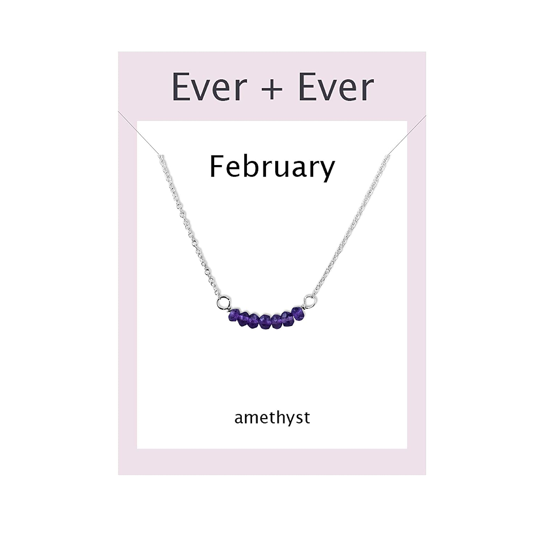 Graduation Wife Birthday Gift Daughter Purple Gemstone Girl Anniversary Handmade Sterling Silver Amethyst Bar Necklace Present for Her Custom Layering Jewelry February Birthstone Mom
