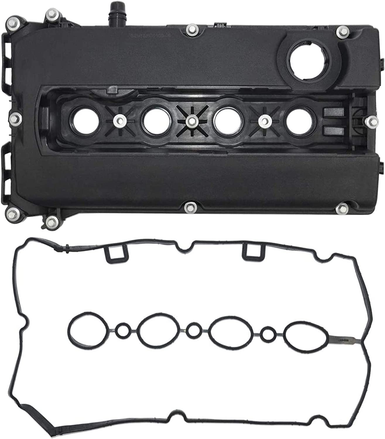Part# 55558673 Camshaft Valve Cover with Gasket for Chevy 11-15 Cruze 12-15 Sonic 09-11 Aveo Aveo5 09-10 Pontiac G3 2008 Saturn Astra 55564395