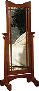 Powell Furniture Powell Mission Oak Cheval Mirror