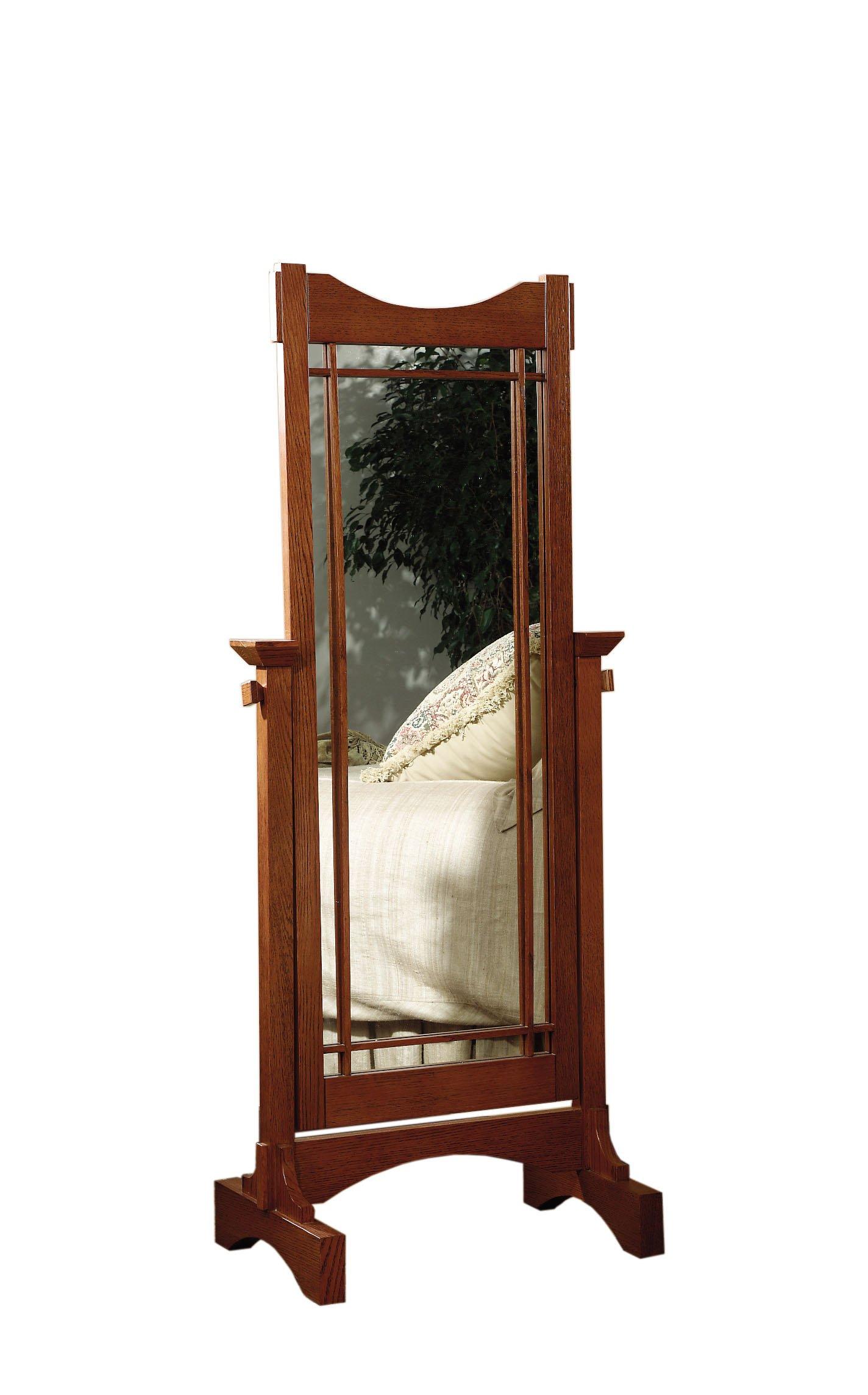 Powell Mission Oak Cheval Mirror