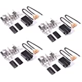 330031 Range Receptacle Burner Receptacle Kit for Whirlpool Kenmore Sears and Roper Refrigerator Oven 814399 5303935058(4 Pac
