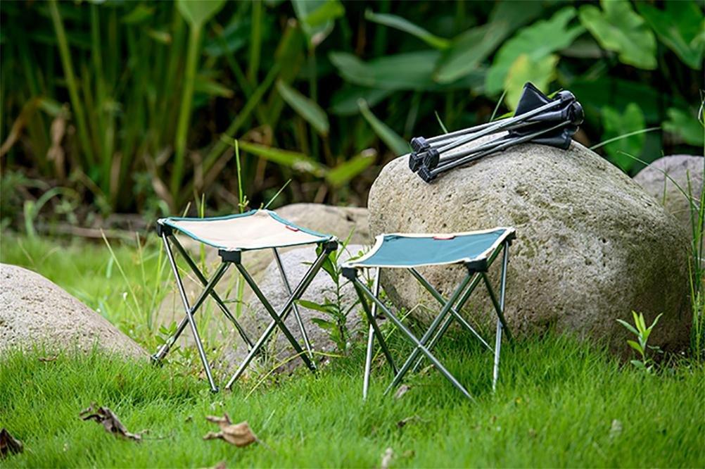 RUIRUI aluminio ligero ligero ligero plegable silla plegable portátil heces pesca pequeña silla , large Verde d86985