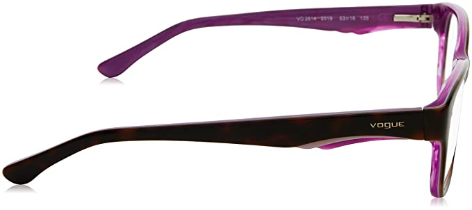 VOGUE Eyeglasses VO 2814 2019 Top Havana Violet Pearl 53MM: Amazon.co.uk:  Shoes & Bags