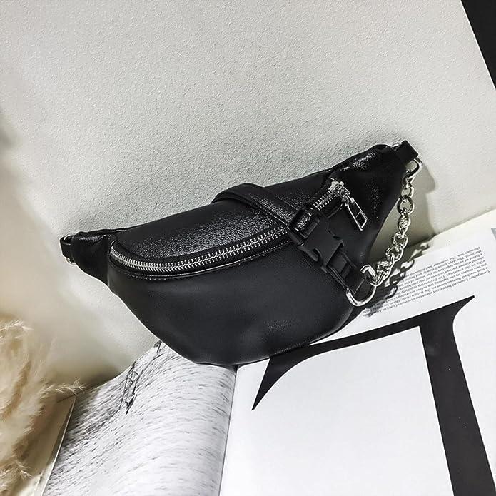 4beccf7a58 Javpoo Women Girls Fashion Leather Fanny Pack Chain Messenger Bag Shoulder  Bag Chest Bag Travel Waist Pack Purse Cellphone Bum Bag with Adjustable  Belt  ...