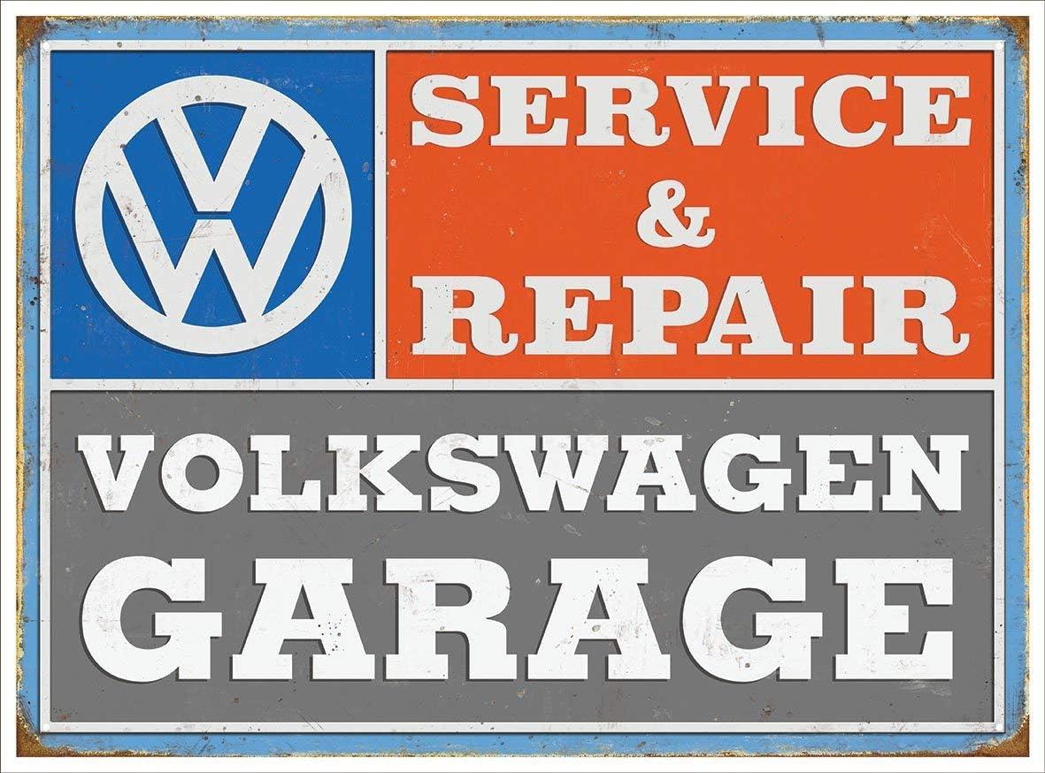 VW SERVICE VINTAGE METAL TIN PLAQUE SIGN