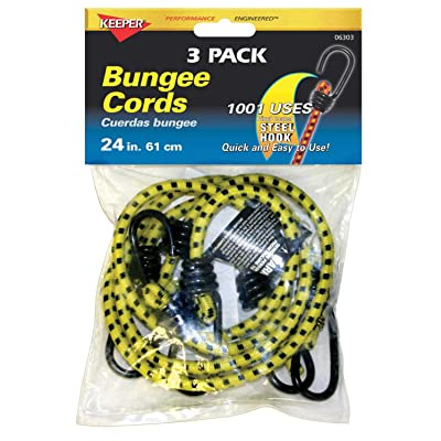 Keeper 06303 24 inch Bungee Cord, 3 Pack: Automotive