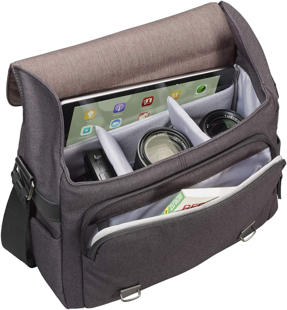 Messenger Style Camera Case with Tablet Compartment Brown Cullmann Bristol Maxima 322