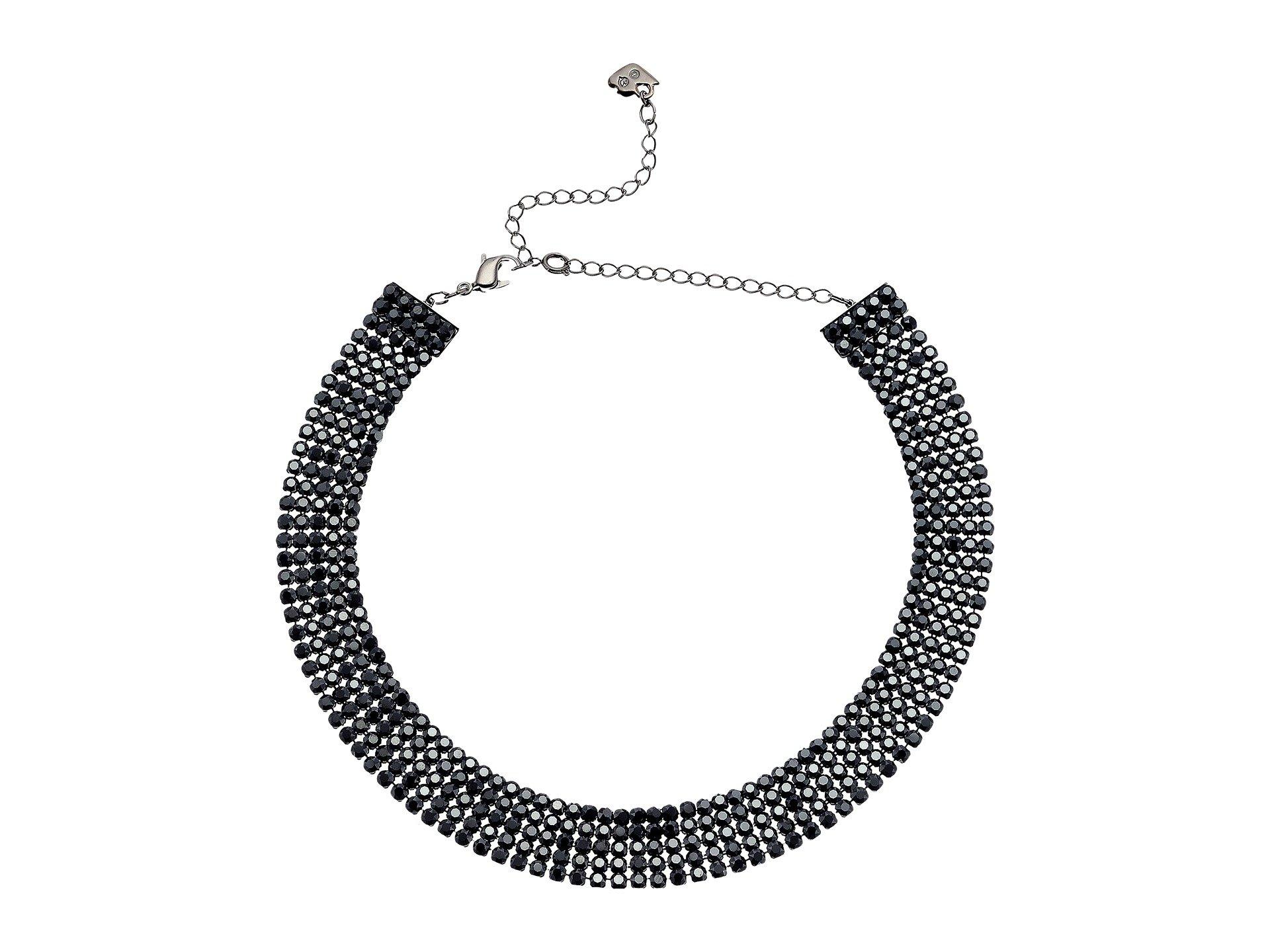 Swarovski Fit Necklace Choker, Black, Ruthenium Plating, 5355185 by SWAROVSKI