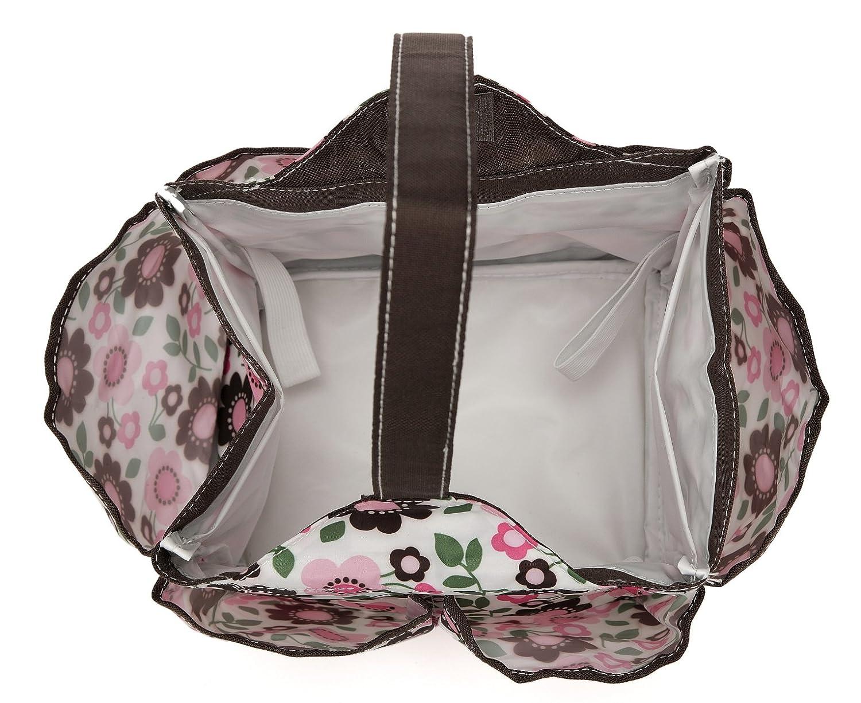 Amazon.com: mengma impresión de nylon impermeable bolsa de ...