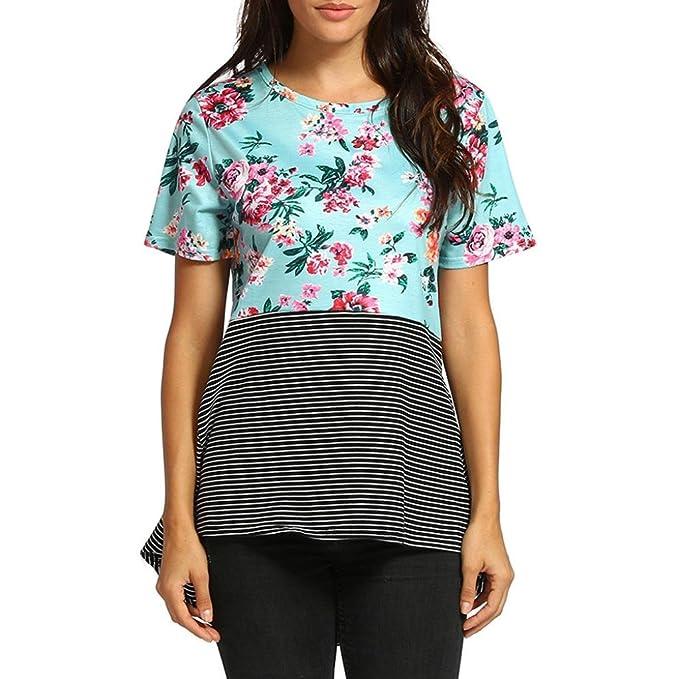 Camisa de Mujer Ropa De Mujer Blusa De Mujer Elegante Verano Camisa de Mujer con Estampado