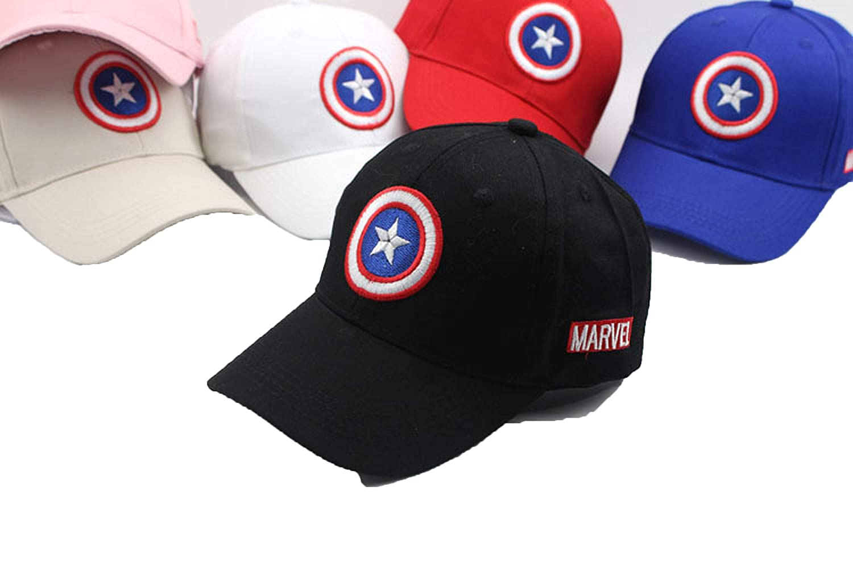 f629eb109 Amazon.com: New Captain America Children Hip Hop Solid Baseball Cap ...