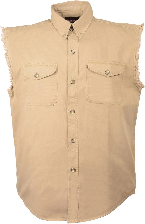 DM4010-JUNGL-3X Milwaukee Performance Mens Lightweight Sleeveless Denim Shirt Jungle, XXX-Large