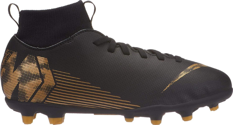 2Y US, Black//Metallic Vivid Gold Nike JR Superfly 6 Club FG//MG Soccer Shoe