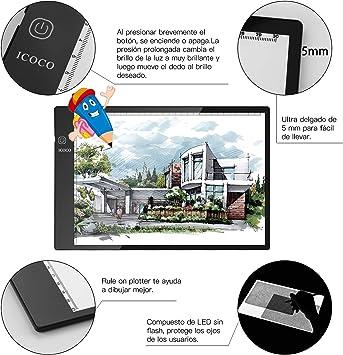 Mesa de Luz,Tableta de Luz,Mesas de Dibujo,Tamaño A4,3 Tipos de ...