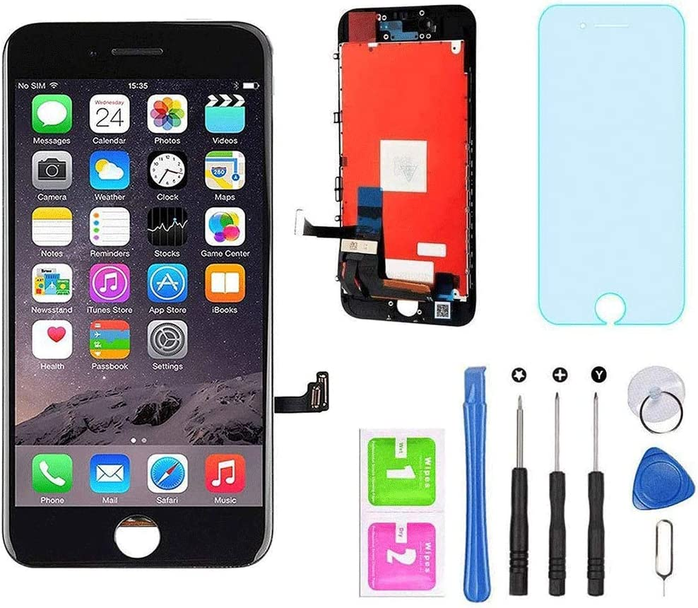 """for iPhone 7 Screen Replacement Black 4.7"""" LCD Display Touch Screen Digitizer Assembly Kit with Free Repair Tools (iPhone 7 Black)"""